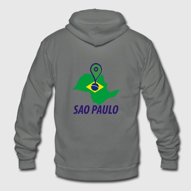 SAO PAULO map shirt - Unisex Fleece Zip Hoodie