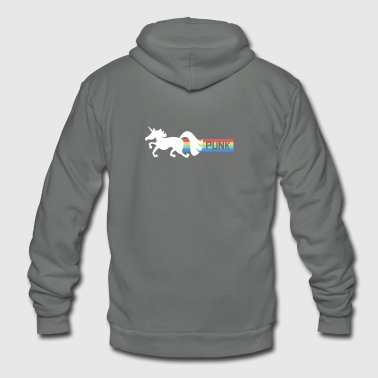 Random Random Punk Rock Unicorn - Unisex Fleece Zip Hoodie