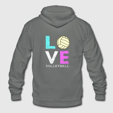 Awesome Girls & Womens Volleyball Gift They LOVE Volleyball - Unisex Fleece Zip Hoodie