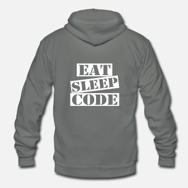 Code Eat Sleep Code - Unisex Fleece Zip Hoodie