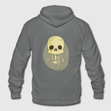 skeleton - Unisex Fleece Zip Hoodie
