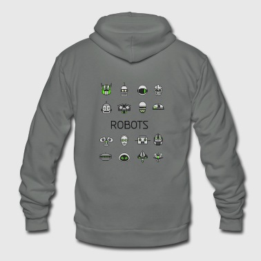 robots space man android nerd game comic men scifi - Unisex Fleece Zip Hoodie