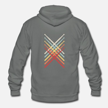 Band Percussion Drum Sticks | Marching Band - Unisex Fleece Zip Hoodie
