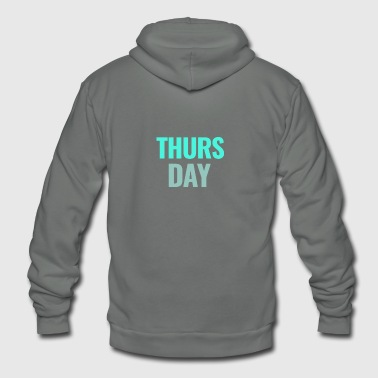 Days Of The Week Thursday Days of the Week T-Shirt - Unisex Fleece Zip Hoodie