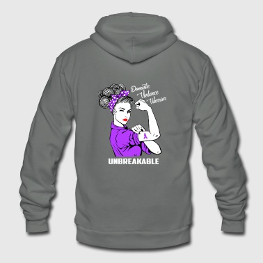 Domestic Violence Warrior Unbreakable - Unisex Fleece Zip Hoodie