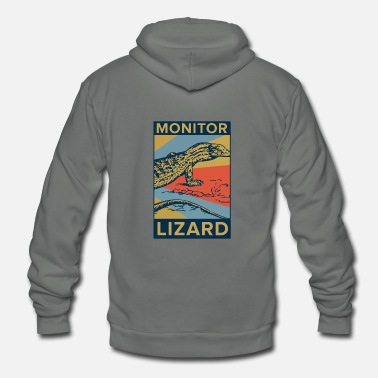 Monitoring Monitor Lizard - Unisex Fleece Zip Hoodie