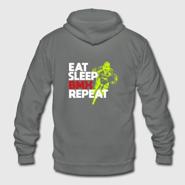 Eat Sleep BMX Repeat Shirt for Riders - Unisex Fleece Zip Hoodie