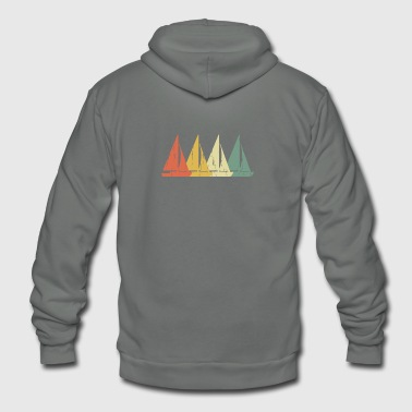 Distressed Sailingboat - Vintage Design - Unisex Fleece Zip Hoodie