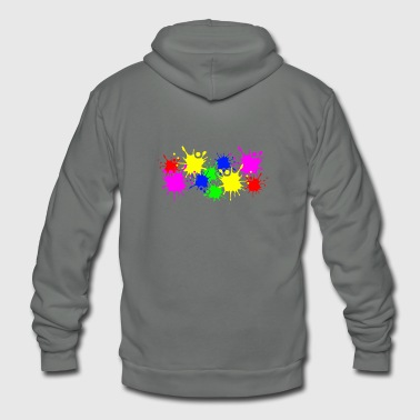 Splashes of color splashes of color color color du - Unisex Fleece Zip Hoodie
