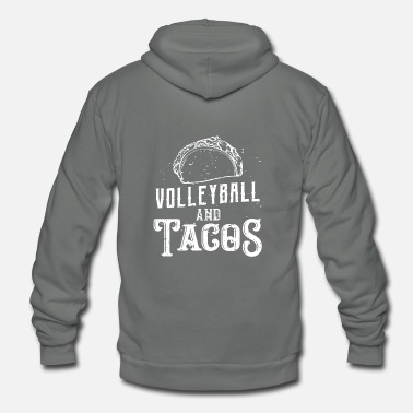 Taco Volleyball and Tacos - Sport Gift - Unisex Fleece Zip Hoodie