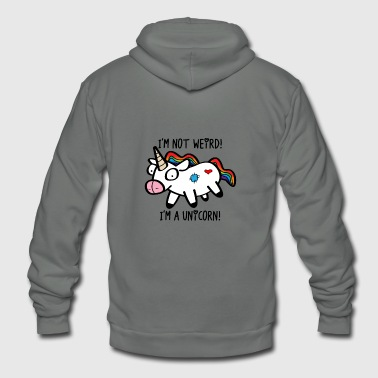 Weird Weird Unicorn - Unisex Fleece Zip Hoodie