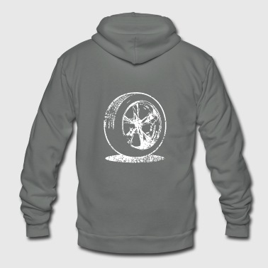 car tire fuel speed oldtimer - Unisex Fleece Zip Hoodie
