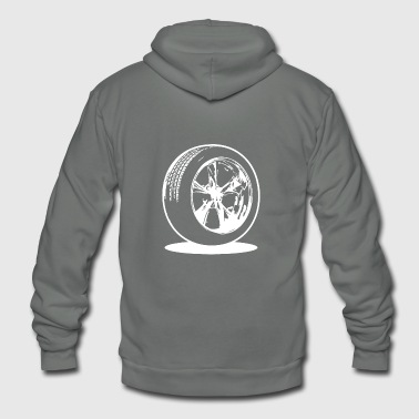 car tire fuel speed race - Unisex Fleece Zip Hoodie