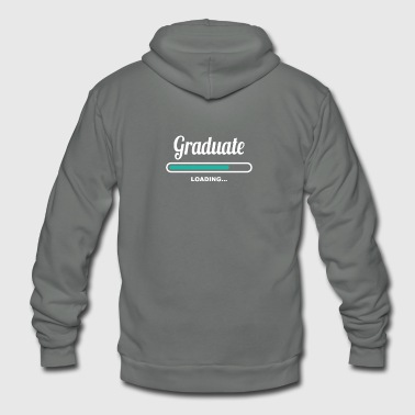 Graduation GRADUATE LOADING - GREAT T SHIRTS FOR GRADUATES - Unisex Fleece Zip Hoodie