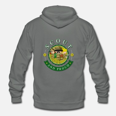 Boy Scout and Proud Tee for Boys and Girls - Unisex Fleece Zip Hoodie