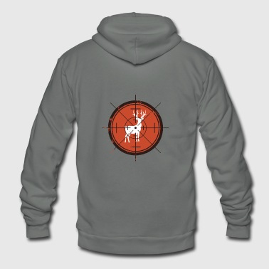 Deer in Scope Hunting Tee - Unisex Fleece Zip Hoodie