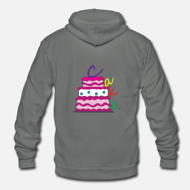 Happy Birthday Happy Birthday Birthday Cake - Unisex Fleece Zip Hoodie