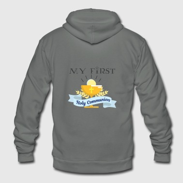 My First Holy Communion Catholic Son Daughter Gift - Unisex Fleece Zip Hoodie