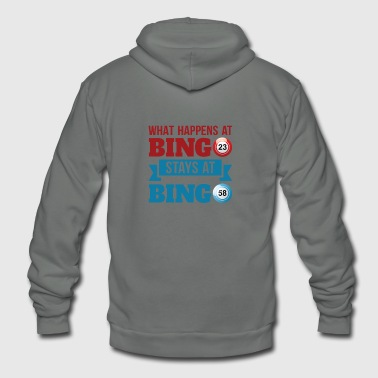 What happens At Bingo Stays At Bingo - Unisex Fleece Zip Hoodie