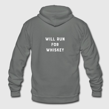 Will Run For Whiskey - Unisex Fleece Zip Hoodie