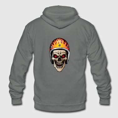 Chopper Biker Sugar Skull - Unisex Fleece Zip Hoodie