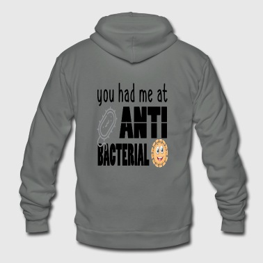 You Had Me at Antibacterial, Humorous Germaphobe Gift, Germaphobic Shirt - Unisex Fleece Zip Hoodie