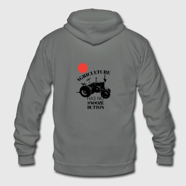 Farm Tractor Agriculture Has No Snooze Button Farmer - Unisex Fleece Zip Hoodie