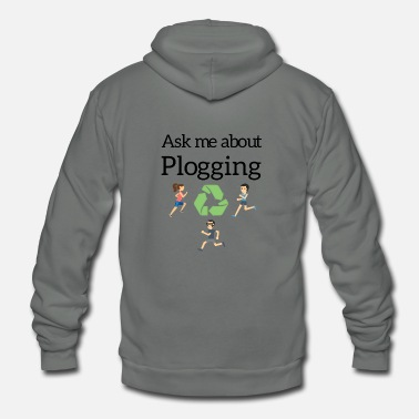 Sweden Ask me about Plogging - Unisex Fleece Zip Hoodie