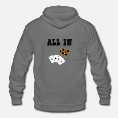All In ALL IN - Unisex Fleece Zip Hoodie