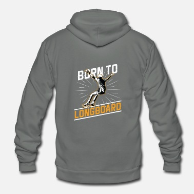 Sports Sports - Born To Longboard - Unisex Fleece Zip Hoodie
