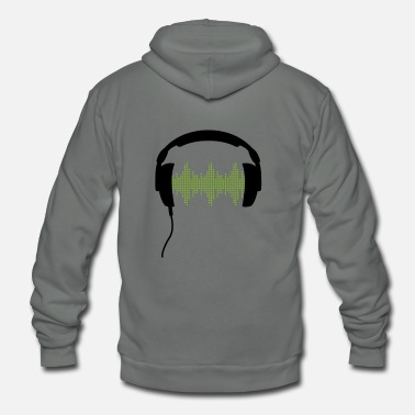 Matrix Headphones with Frequency-Equalizer DJ Music Sound Beat Pop  - Unisex Fleece Zip Hoodie