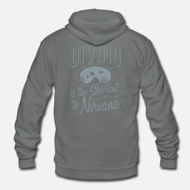 Nirvana Diving is the shortcut to Nirvana - Unisex Fleece Zip Hoodie