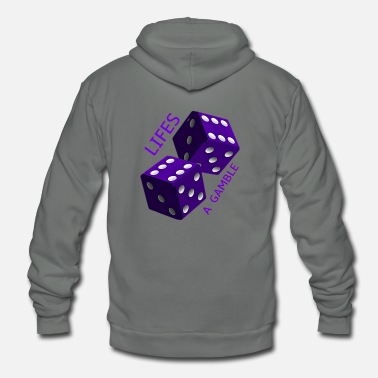 Gambling Dice lifes a gamble - Unisex Fleece Zip Hoodie
