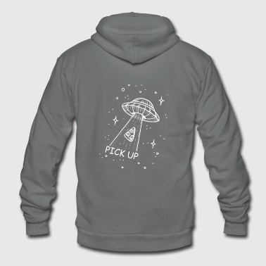 Pick Up pick up Pizza Ufo - Unisex Fleece Zip Hoodie