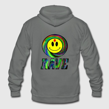 rave bullet hole - Unisex Fleece Zip Hoodie
