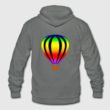 Hot Air Balloon hot air balloon heissluftballon - Unisex Fleece Zip Hoodie