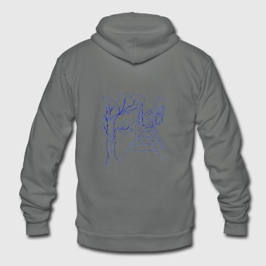 line tree - Unisex Fleece Zip Hoodie