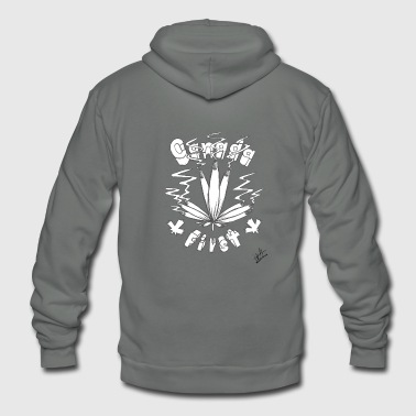 Canada First, Canada Flag Joints - Unisex Fleece Zip Hoodie