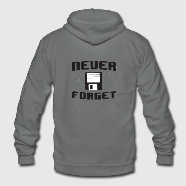 Floppy disk - Never forget the floppy disk - Unisex Fleece Zip Hoodie