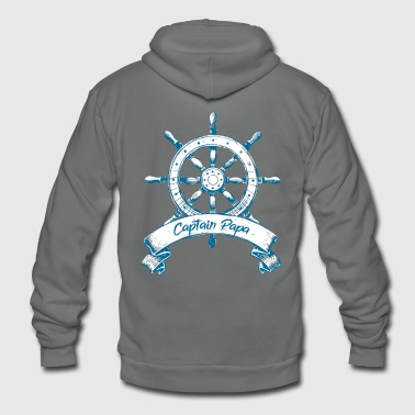 Nautical Captain Papa Nautical Boating Sailing - Unisex Fleece Zip Hoodie