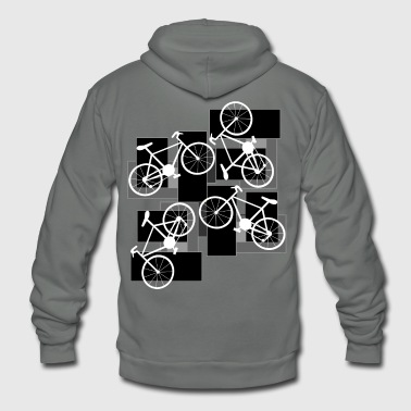 Bicycle Rectangles - Unisex Fleece Zip Hoodie