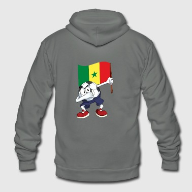 Senegal Dabbing Soccer Ball - Unisex Fleece Zip Hoodie