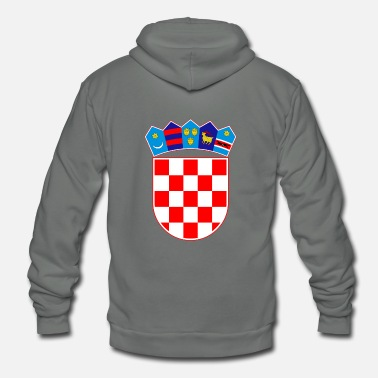 Usta Coat of arms of Croatia Hrvatska - Unisex Fleece Zip Hoodie