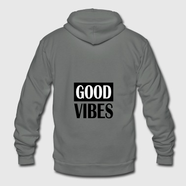 Good Vibes Club House Music Base Deep Beats - Unisex Fleece Zip Hoodie