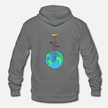Eco The Eco Wheel - Unisex Fleece Zip Hoodie