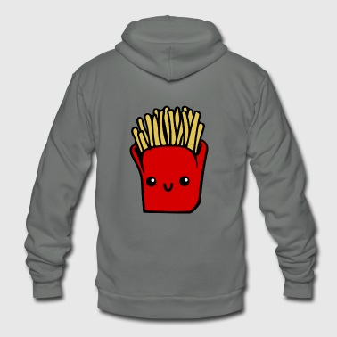 French Fries Cartoon french fries - Unisex Fleece Zip Hoodie