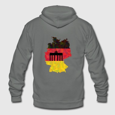 German flag and Brandenburg gate - Unisex Fleece Zip Hoodie