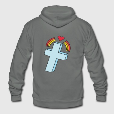 kreuz crucifix cross church kirche2 - Unisex Fleece Zip Hoodie