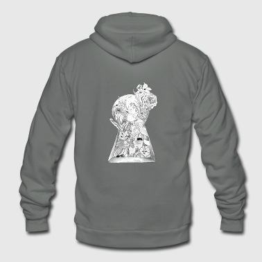Alice In Wonderland - Unisex Fleece Zip Hoodie