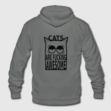 Cats are Fucking Awesome - Unisex Fleece Zip Hoodie